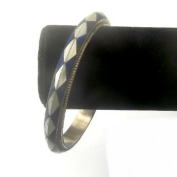 Lapis & Shell Bangle
